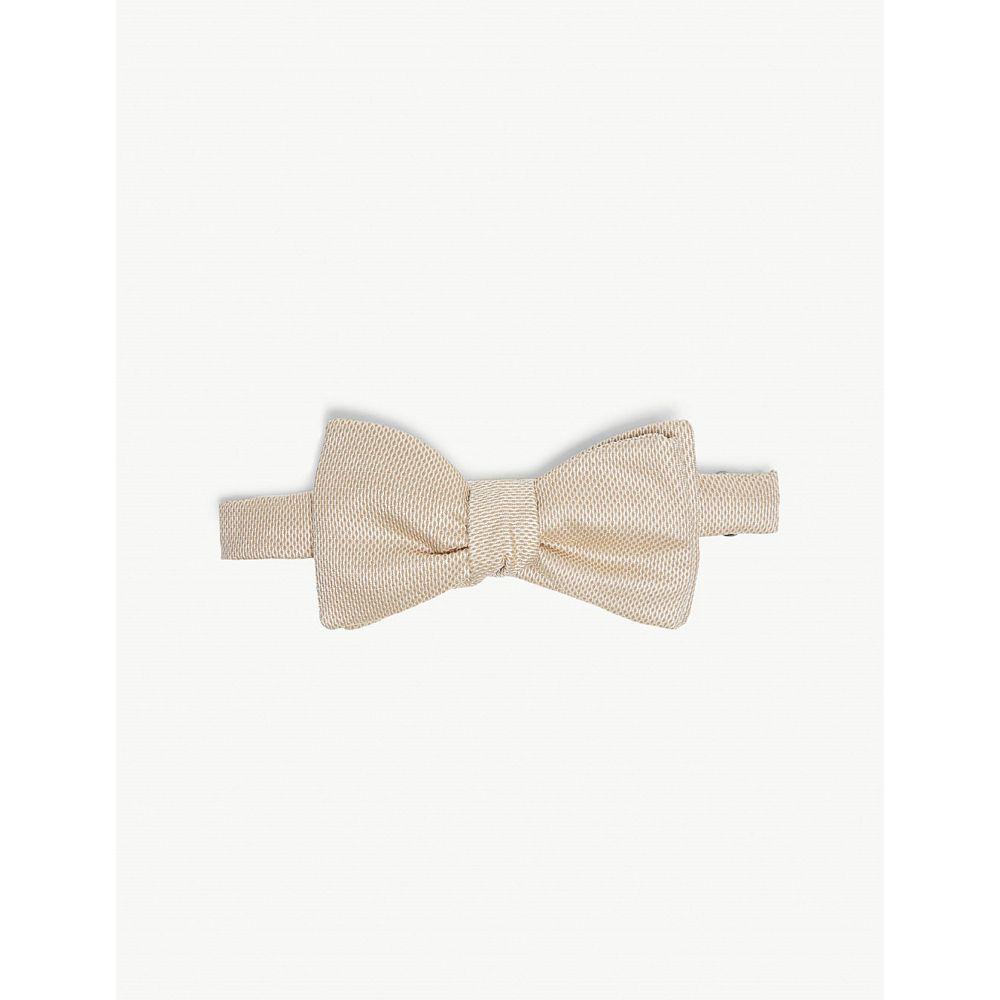 イートン eton メンズ 蝶ネクタイ【silk weave bow tie】Offwhite/brown
