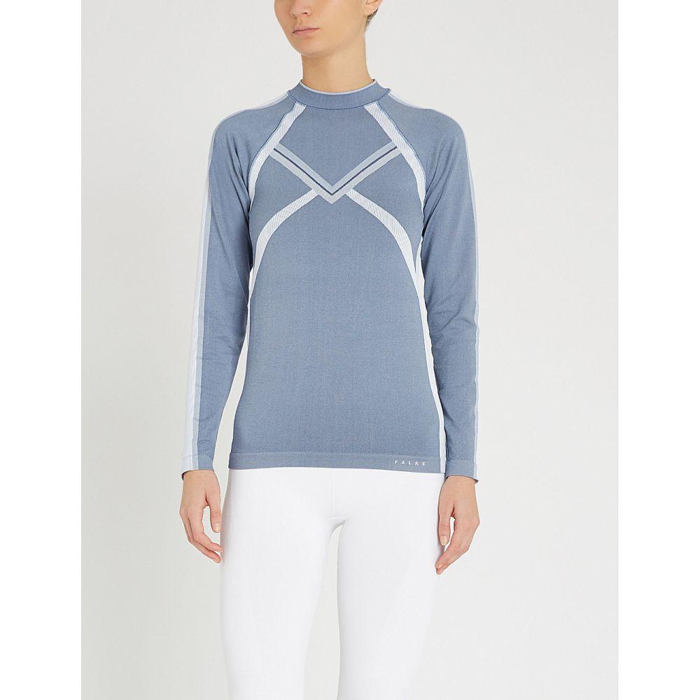 ファルケ falke レディース スキー・スノーボード トップス【maximum warm stretch-knitted top】iron blue