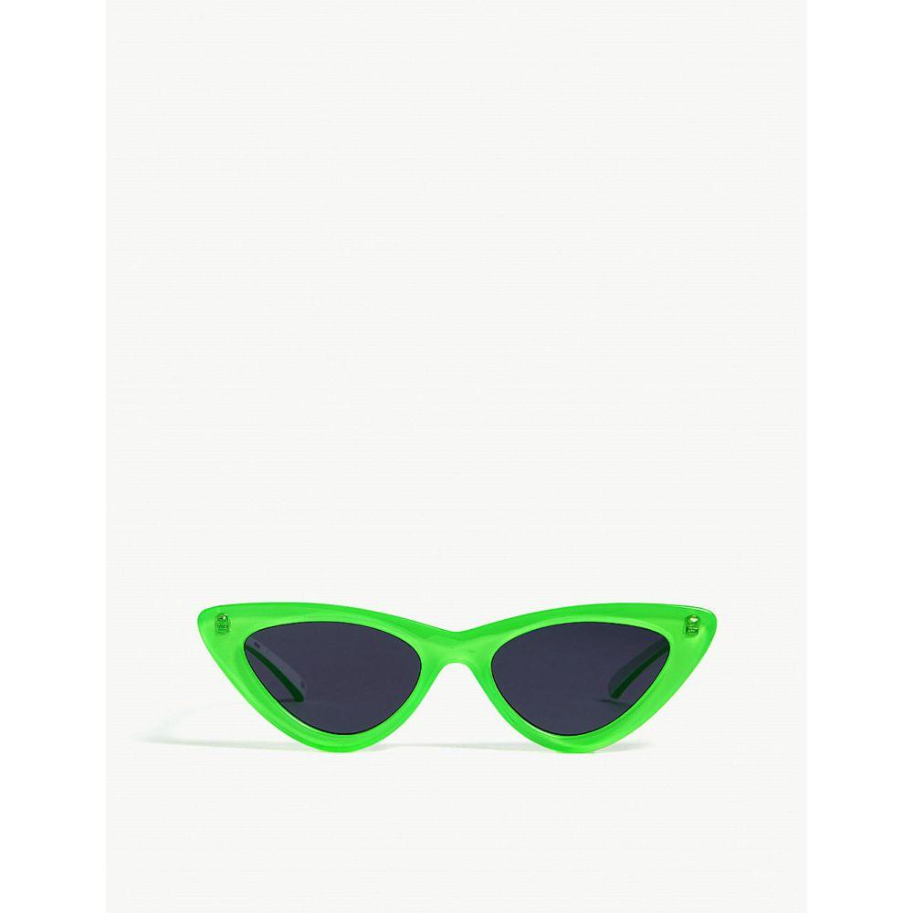 ル スペックス le specs レディース メガネ・サングラス【the last lolita cat eye-frame sunglasses】Neon lime