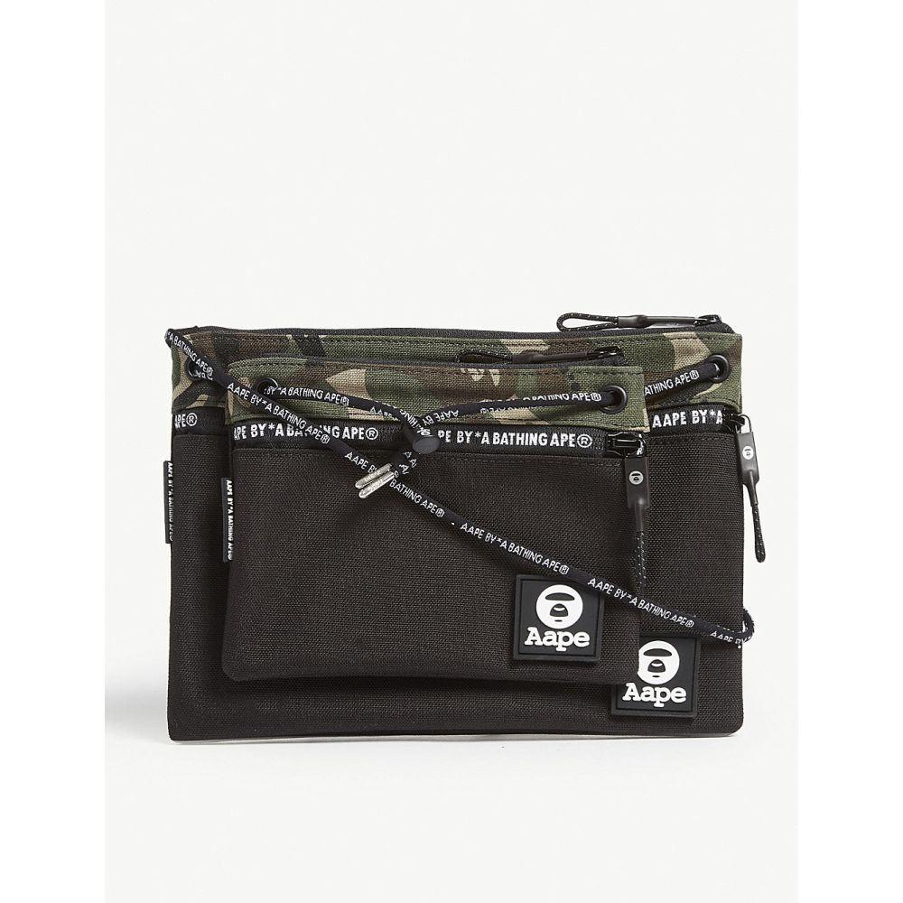 エーエイプ aape メンズ バッグ ショルダーバッグ【cordura camouflage-print shell cross-body bag】Bkx