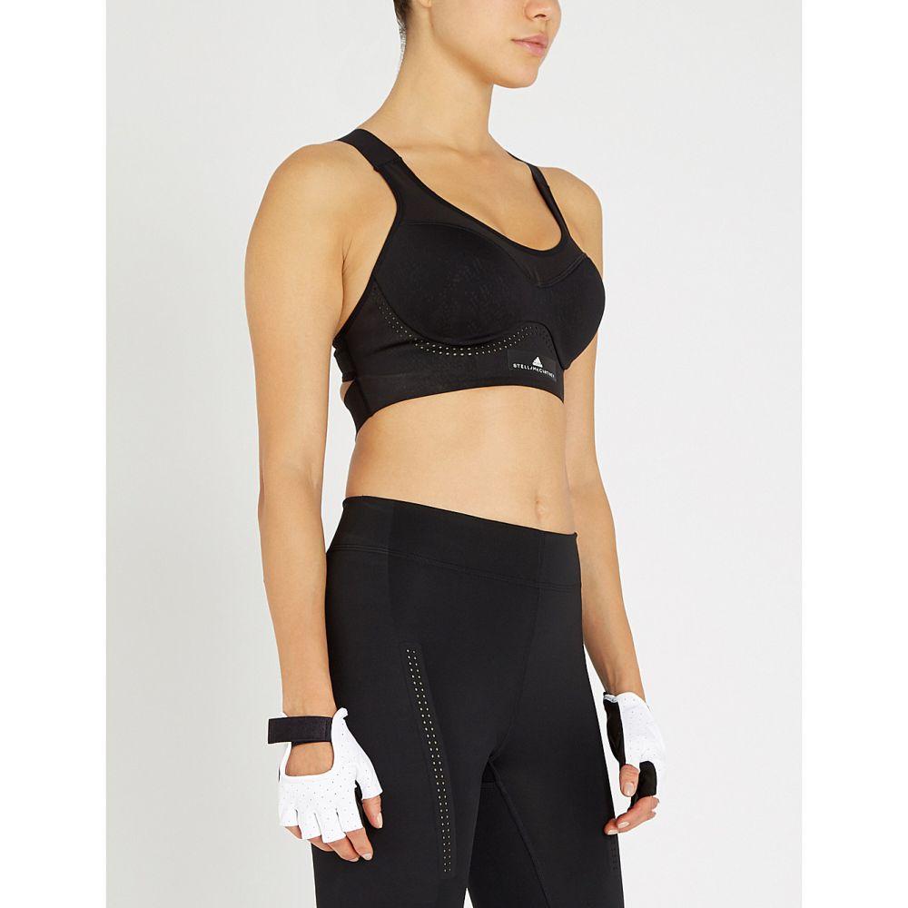 アディダス sports adidas by it for stella mccartney レディース インナー・下着 スポーツブラ【stronger for it stretch-jersey sports bra】Black, イワイズミチョウ:39a7918a --- sunward.msk.ru