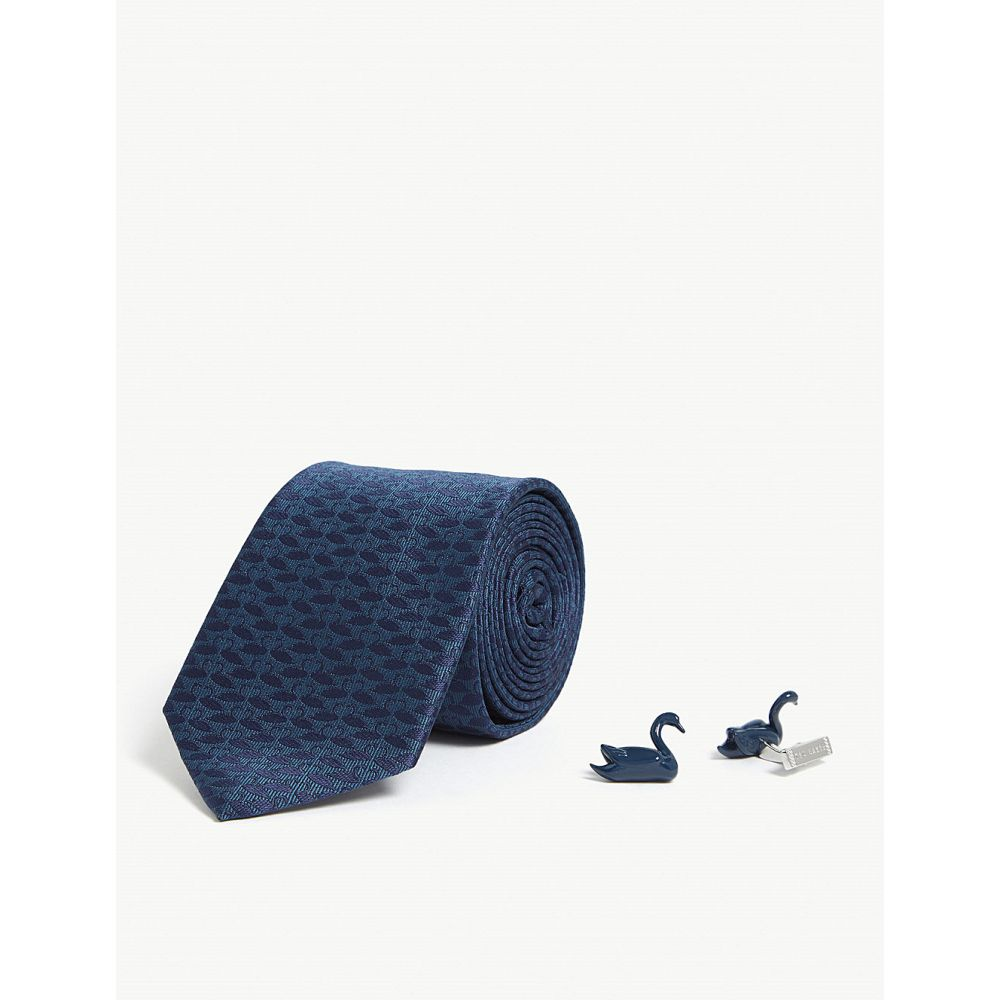 テッドベーカー ted baker メンズ ネクタイ【swaning tie and cufflinks gift set】Teal-blue