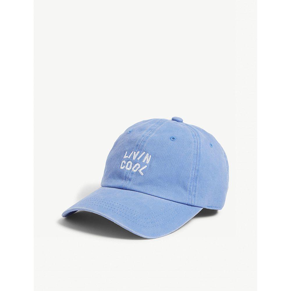 リヴィンクール livincool メンズ 帽子 キャップ【logo cotton baseball cap】Blue
