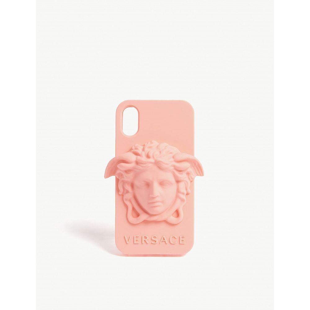 ヴェルサーチ versace メンズ iPhone (X)ケース【medusa logo silicone iphone x case】Shell pink