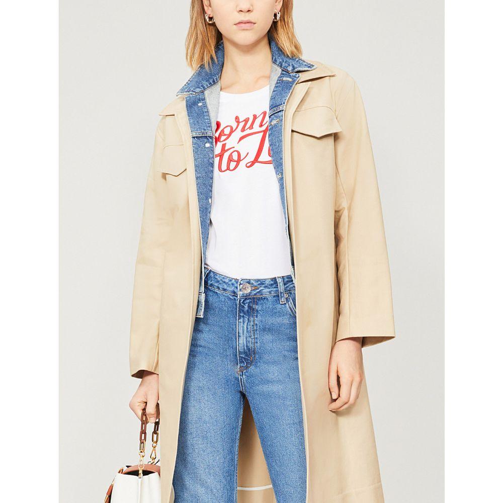 サンドロ sandro レディース トップス Tシャツ【born to love embroidered-slogan cotton-jersey t-shirt】White