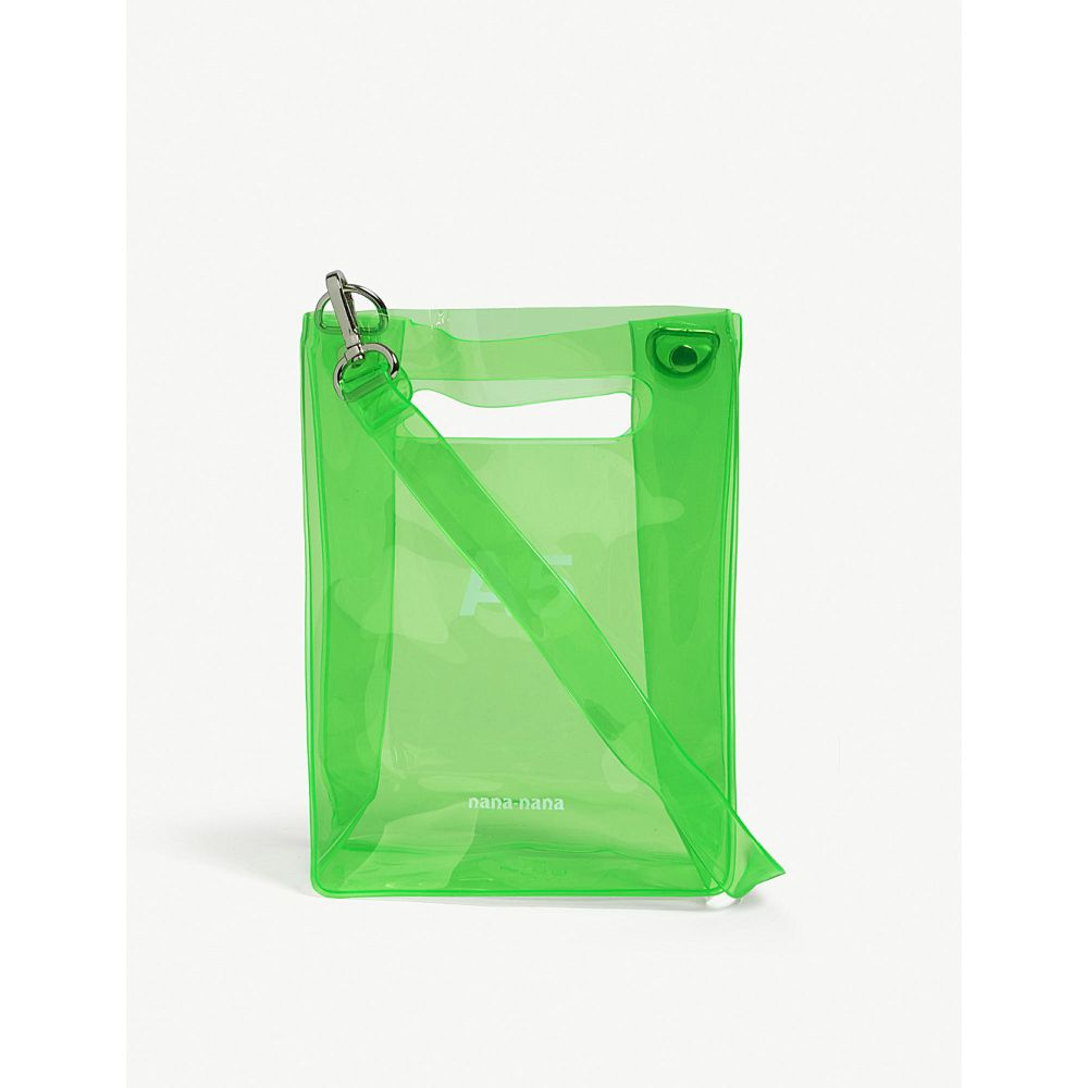 ナナナナ nana-nana レディース バッグ トートバッグ【a5 neon pvc tote bag】Neon green