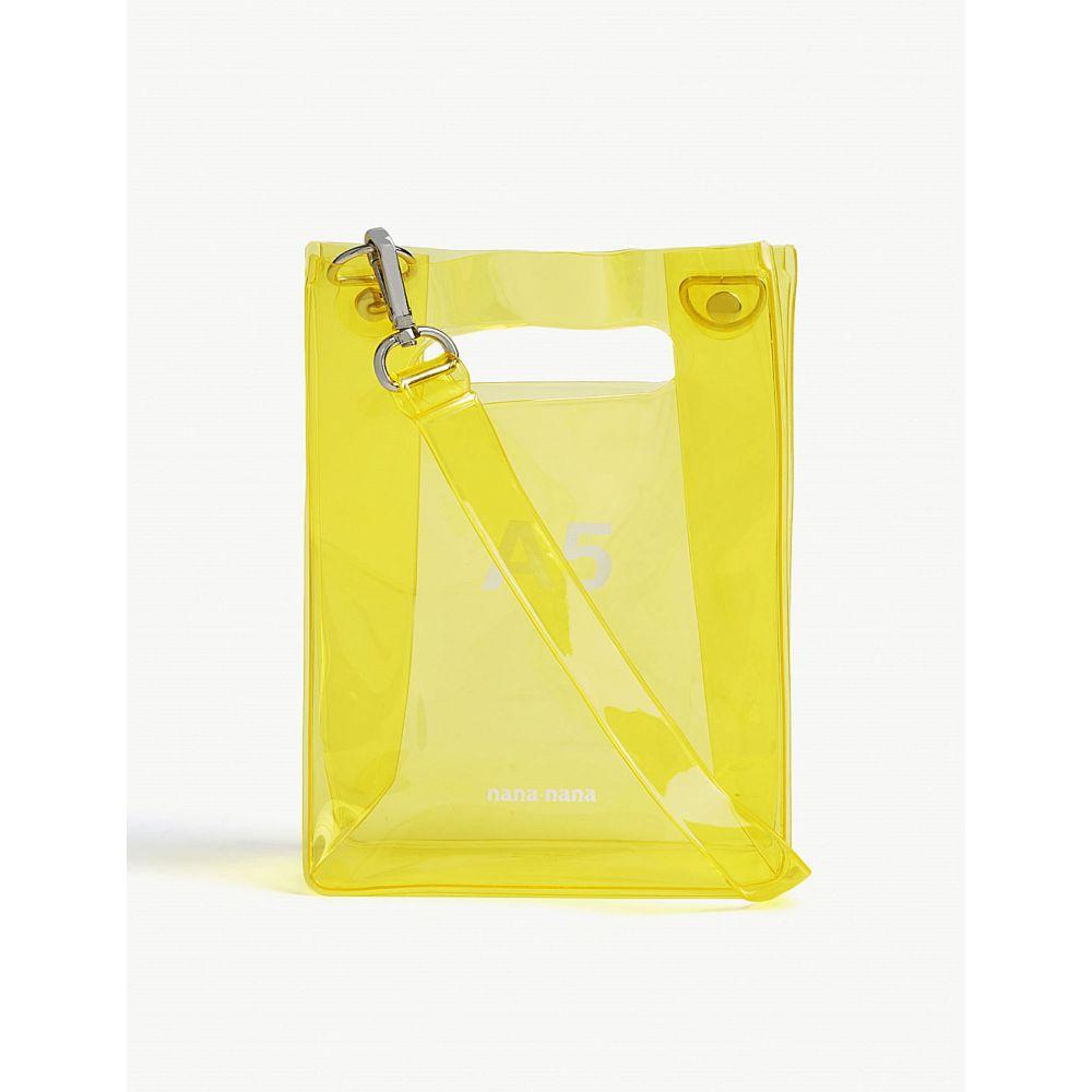 ナナナナ nana-nana レディース バッグ トートバッグ【a5 neon pvc tote bag】Yellow