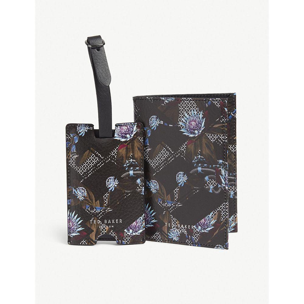テッドベーカー ted baker メンズ パスポートケース【minster leather passport cover and luggage tag gift set】Navy