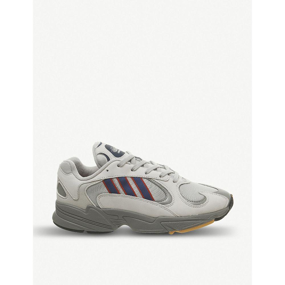 アディダス adidas メンズ シューズ・靴 スニーカー【yung 1 nubuck-leather trainers】Grey royal scarlet