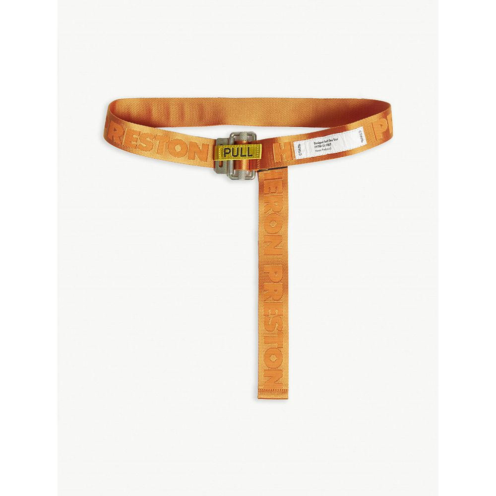 ヘロン プレストン heron preston メンズ ベルト【logo jacquard webbing belt】Orange