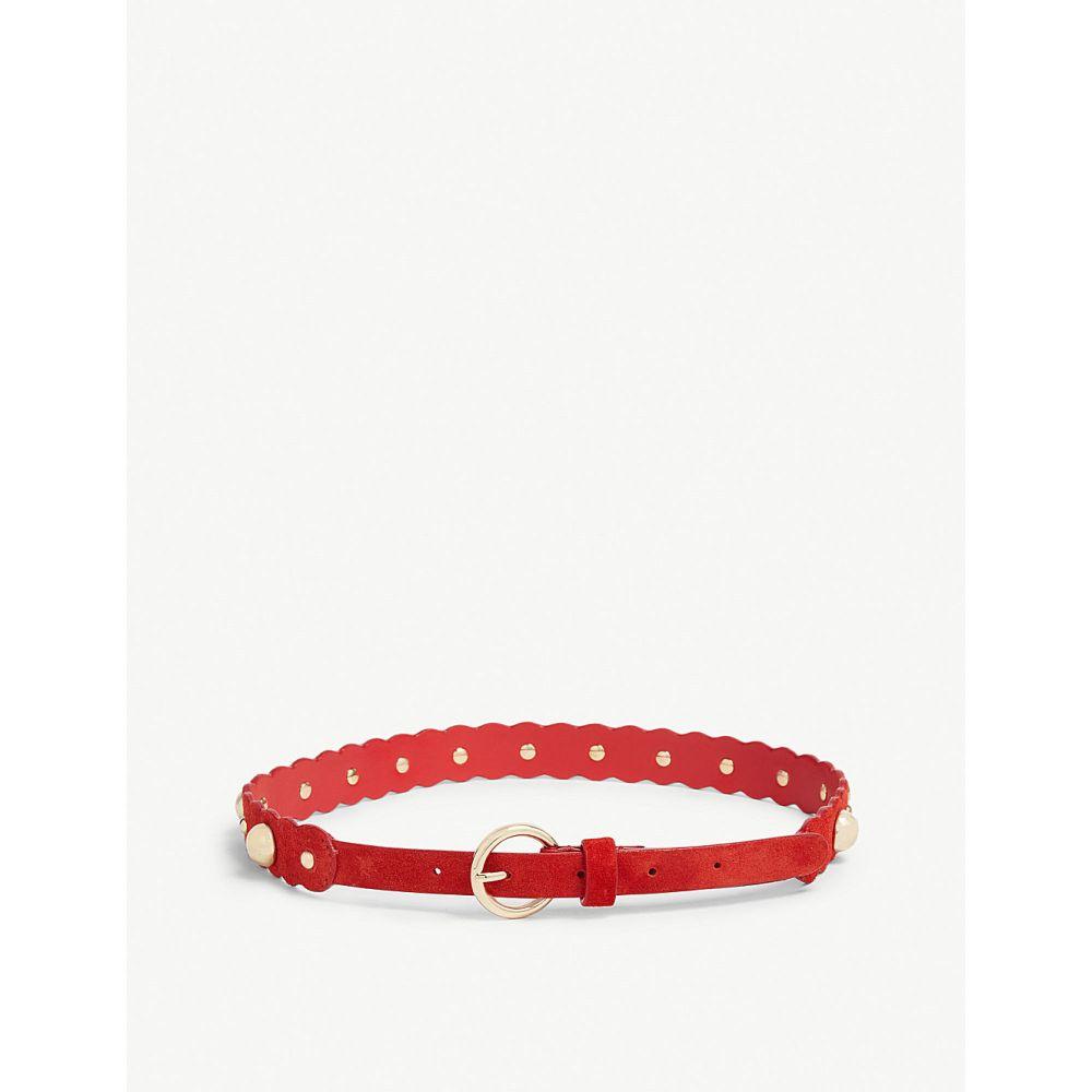 サンドロ sandro レディース ベルト【cora suede embellished belt】Red