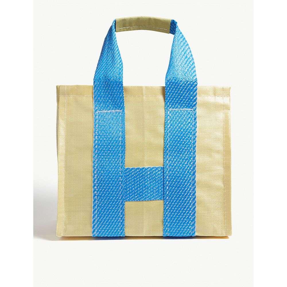 コム デ ギャルソン comme des garcons shirt メンズ バッグ トートバッグ【picnic-striped tote bag】Yellow blue