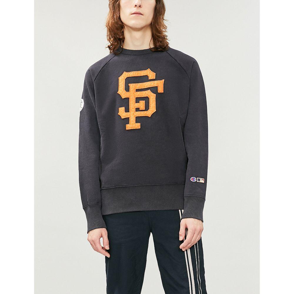 チャンピオン champion メンズ トップス スウェット・トレーナー【x mlb san francisco giants logo cotton-jersey sweatshirt】Black