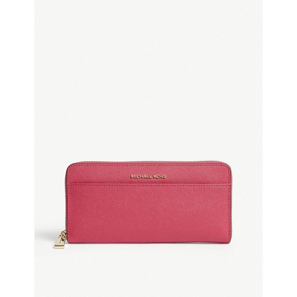 マイケル コース michael michael kors レディース 財布【jet set leather continental wallet】Ultra pink