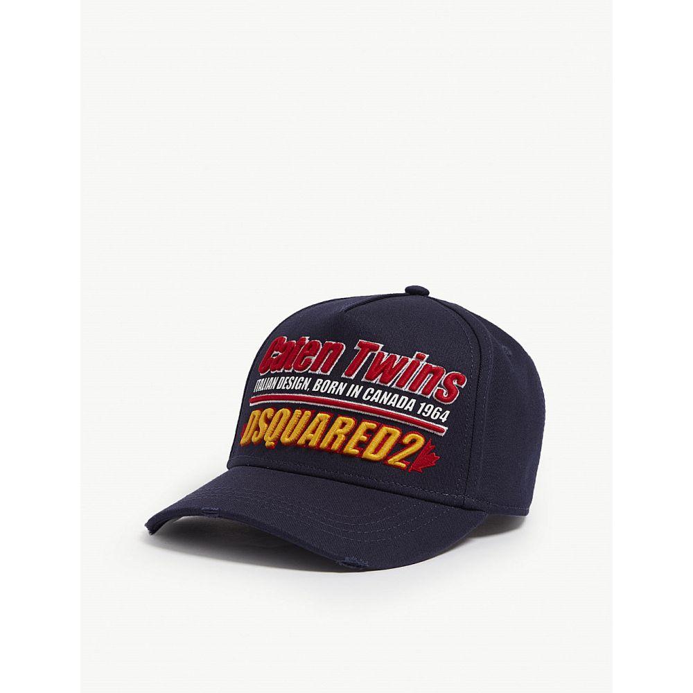 ディースクエアード dsquared2 メンズ 帽子 キャップ【branded baseball cap】Navy