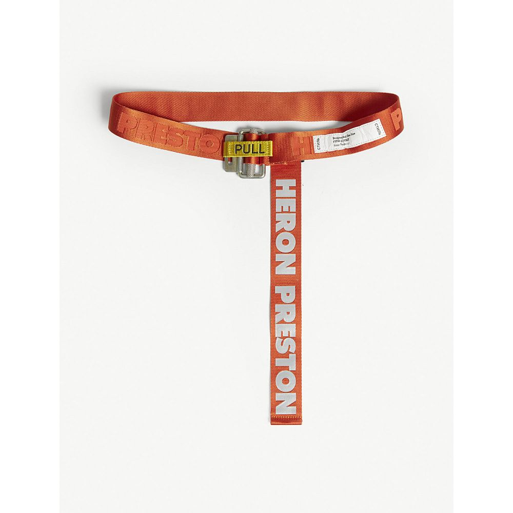 ヘロン プレストン heron preston レディース ベルト【reflective logo jacquard webbing belt】Orange multi
