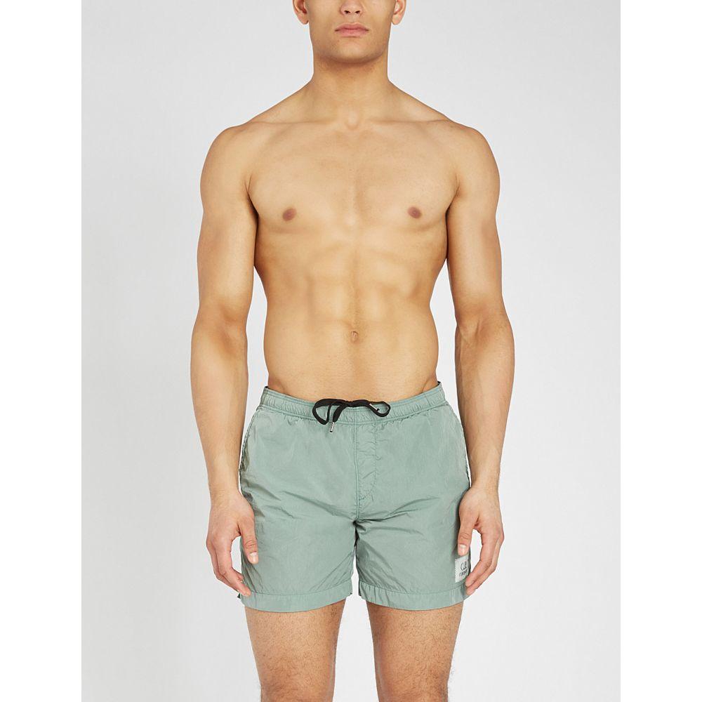 C.P.カンパニー cp company メンズ 水着・ビーチウェア 海パン【logo patch relaxed-fit swim shorts】Mint