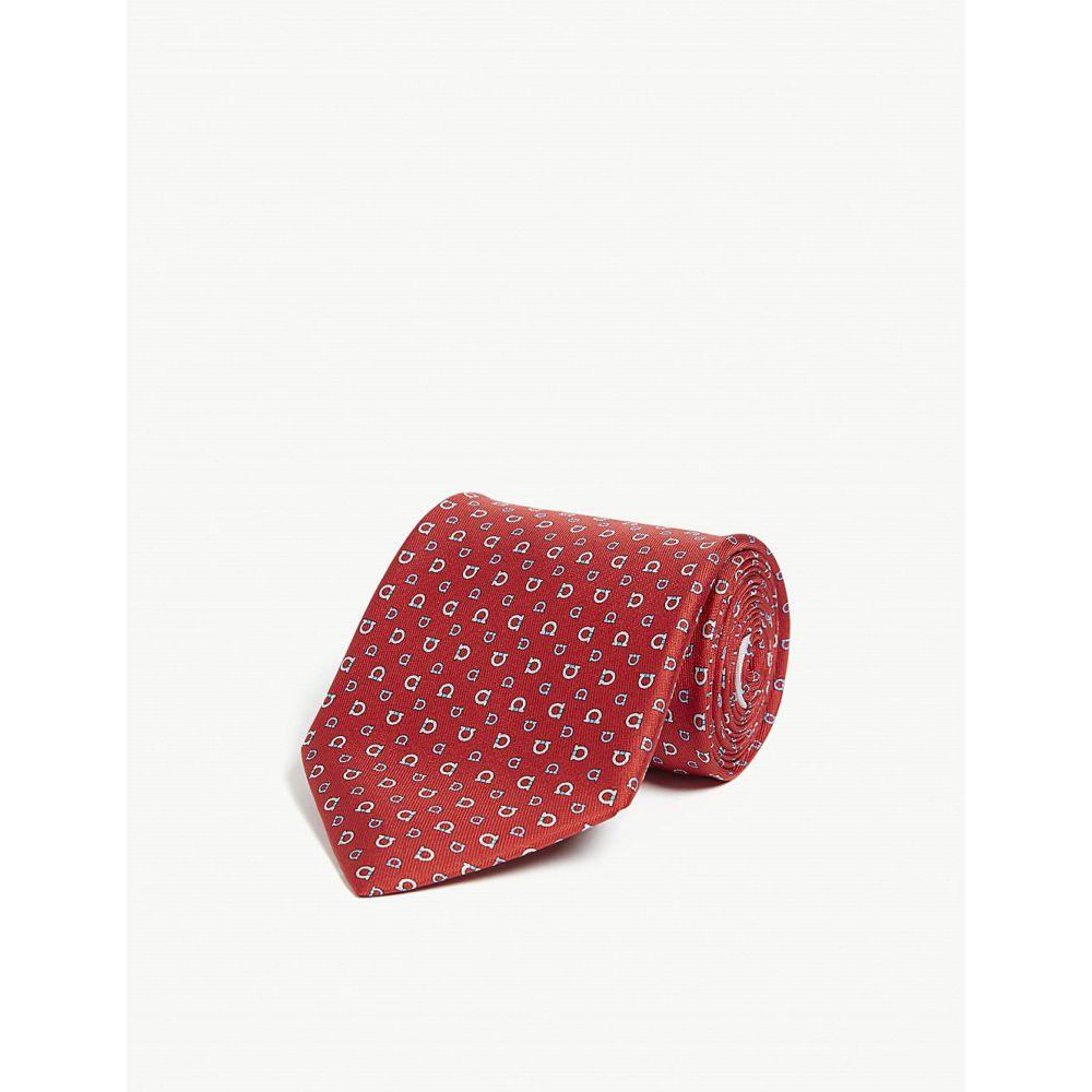 サルヴァトーレ フェラガモ salvatore ferragamo メンズ ネクタイ【logo silk tie】Rosso