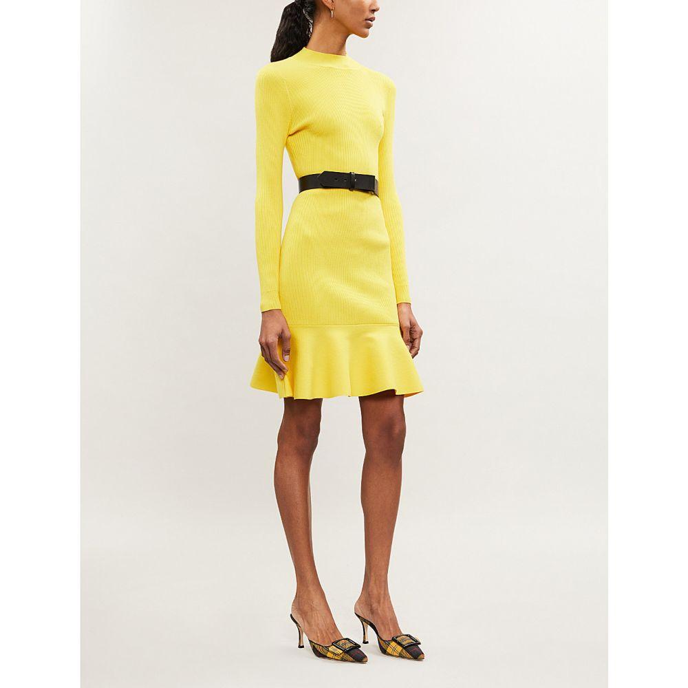 カレンミレン karen millen レディース ワンピース・ドレス ボディコンドレス【fit and flare knitted bodycon dress】Yellow