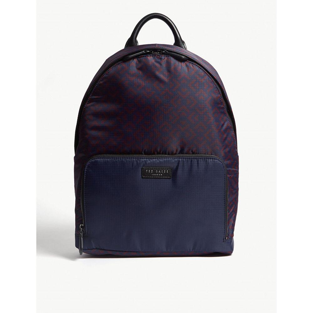 テッドベーカー ted baker メンズ バッグ バックパック・リュック【polka printed nylon backpack】Navy