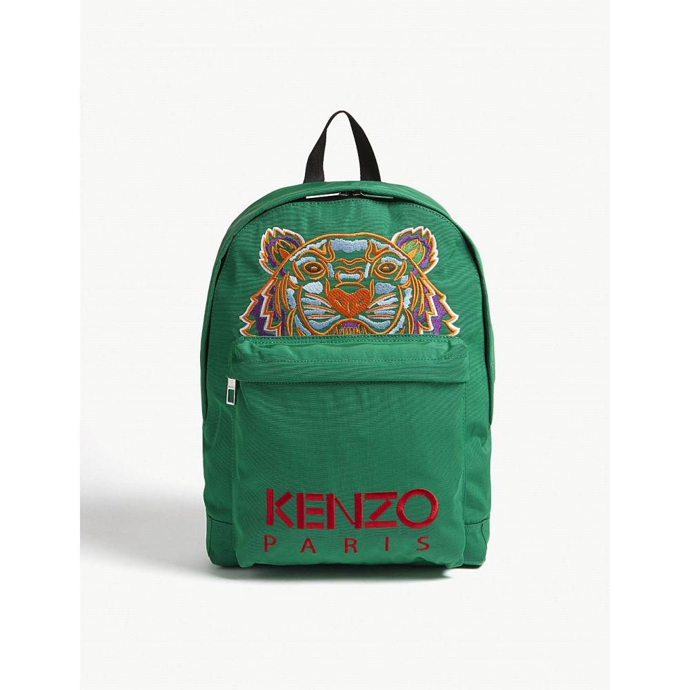 ケンゾー kenzo メンズ バッグ バックパック・リュック【tiger icon canvas backpack】Grass green