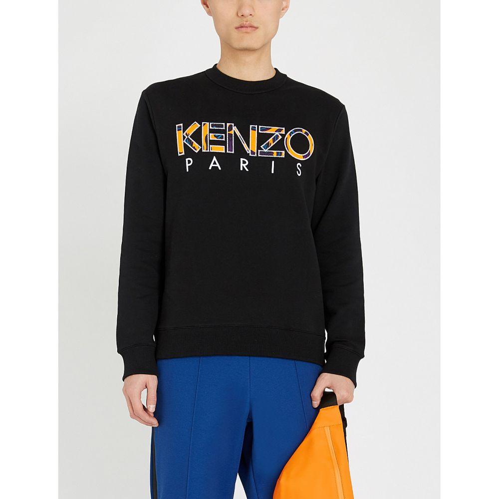 ケンゾー kenzo メンズ トップス スウェット・トレーナー【logo-embroidered cotton sweatshirt】Black