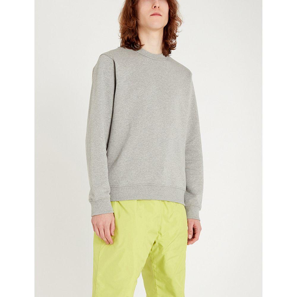 ケンゾー kenzo メンズ トップス スウェット・トレーナー【logo-print stretch-cotton sweatshirt】Pearl grey