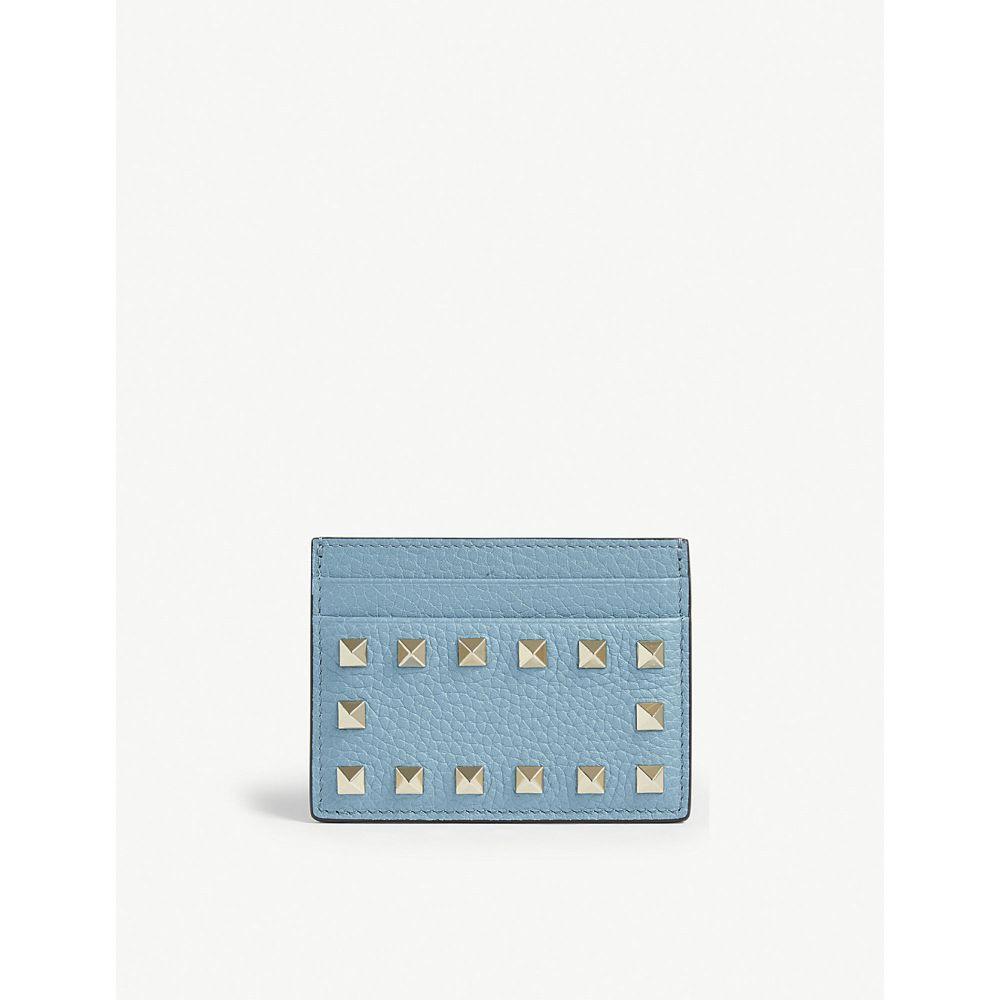 ヴァレンティノ valentino レディース カードケース・名刺入れ【rockstud leather card holder】Atlantic