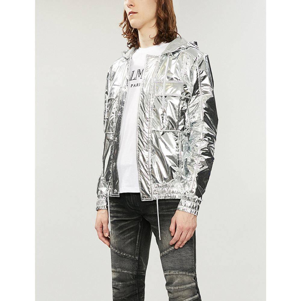バルマン balmain メンズ トップス Tシャツ【logo-print cotton-jersey t-shirt】White black