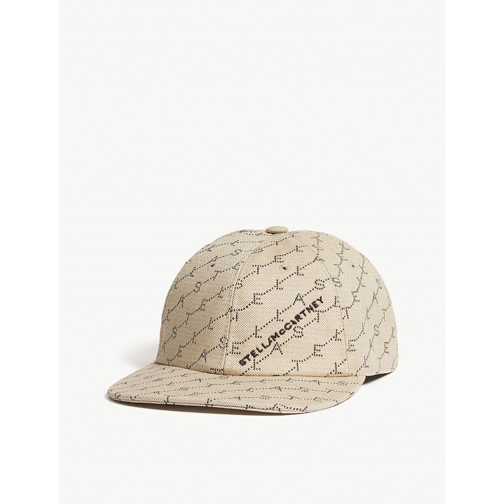 4248b0719577 ステラ マッカートニー stella mccartney レディース 帽子 キャップ【logo organic cotton  cap】Sand/black