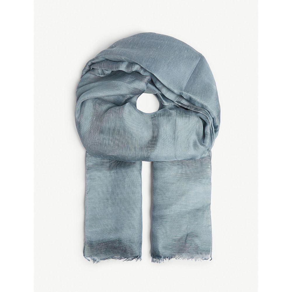 マックスマーラ s max mara レディース マフラー・スカーフ・ストール【linen and silk blend scarf】Pale blue