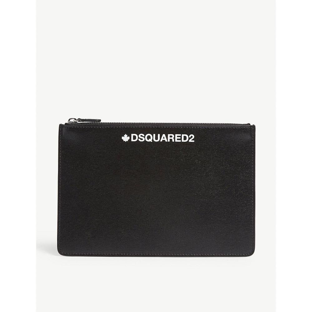 ディースクエアード dsquared2 メンズ ポーチ【leather pouch bag】Black