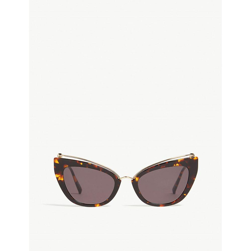 マックスマーラ max mara レディース メガネ・サングラス【marilyn cat-eye-frame sunglasses】Tawny bronze brown