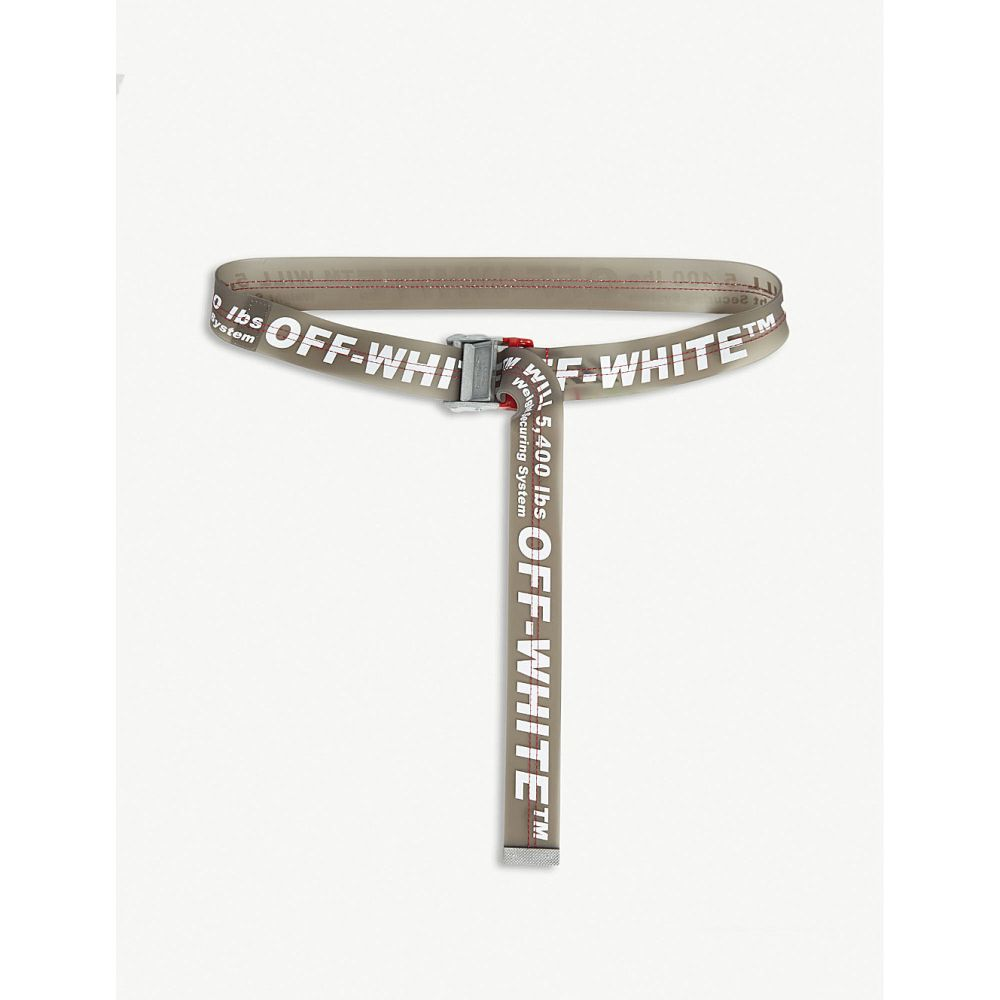 オフホワイト off-white c/o virgil abloh メンズ ベルト【pvc industrial tape belt】Black