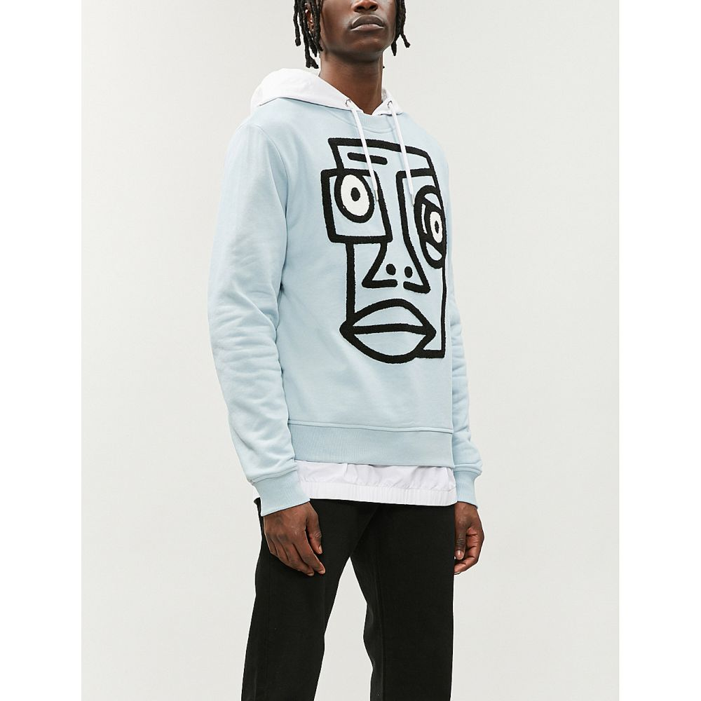 ハーキュラ haculla メンズ トップス スウェット・トレーナー【logo-print cotton-jersey sweatshirt】Pale blue