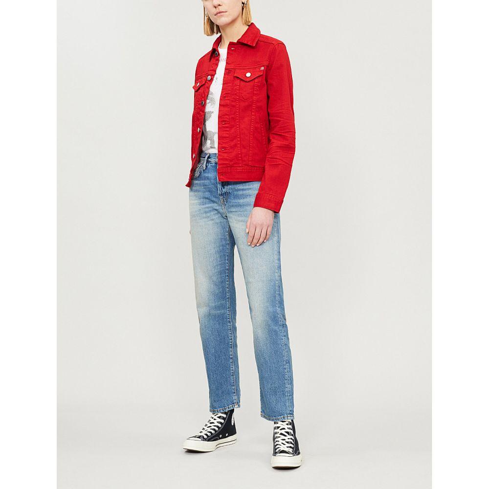 エージー ag レディース アウター ジャケット【mya frayed stretch-denim jacket】year clever red