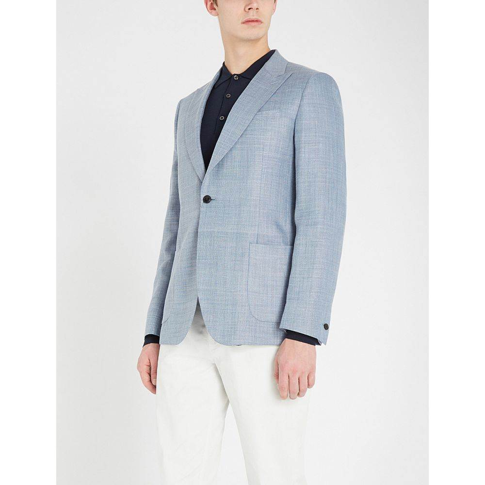 リース reiss メンズ アウター スーツ・ジャケット【archie slim-fit woven blazer】Light blue