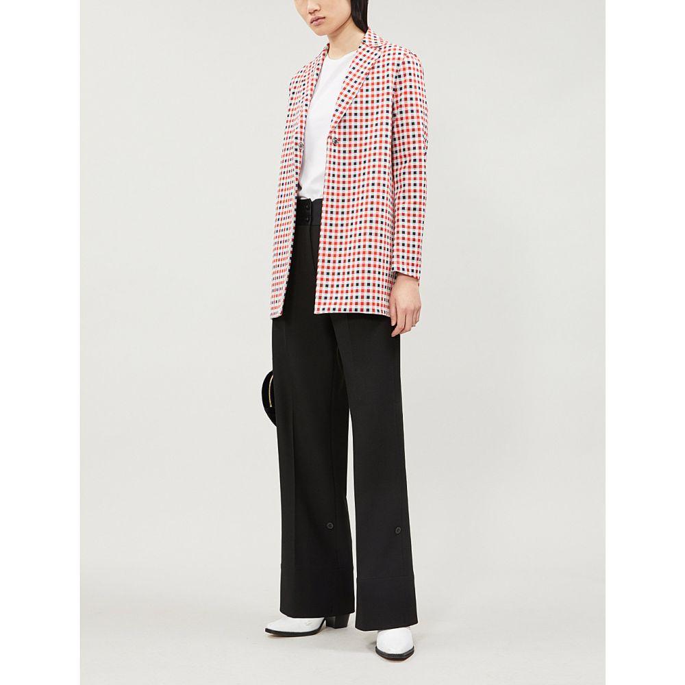 ハリスワーフロンドン harris wharf london レディース アウター スーツ・ジャケット【checked single-breasted woven jacket】Red