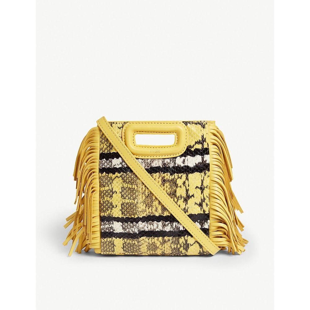 マージュ maje レディース バッグ ショルダーバッグ【watersnake m mini shoulder bag】Yellow