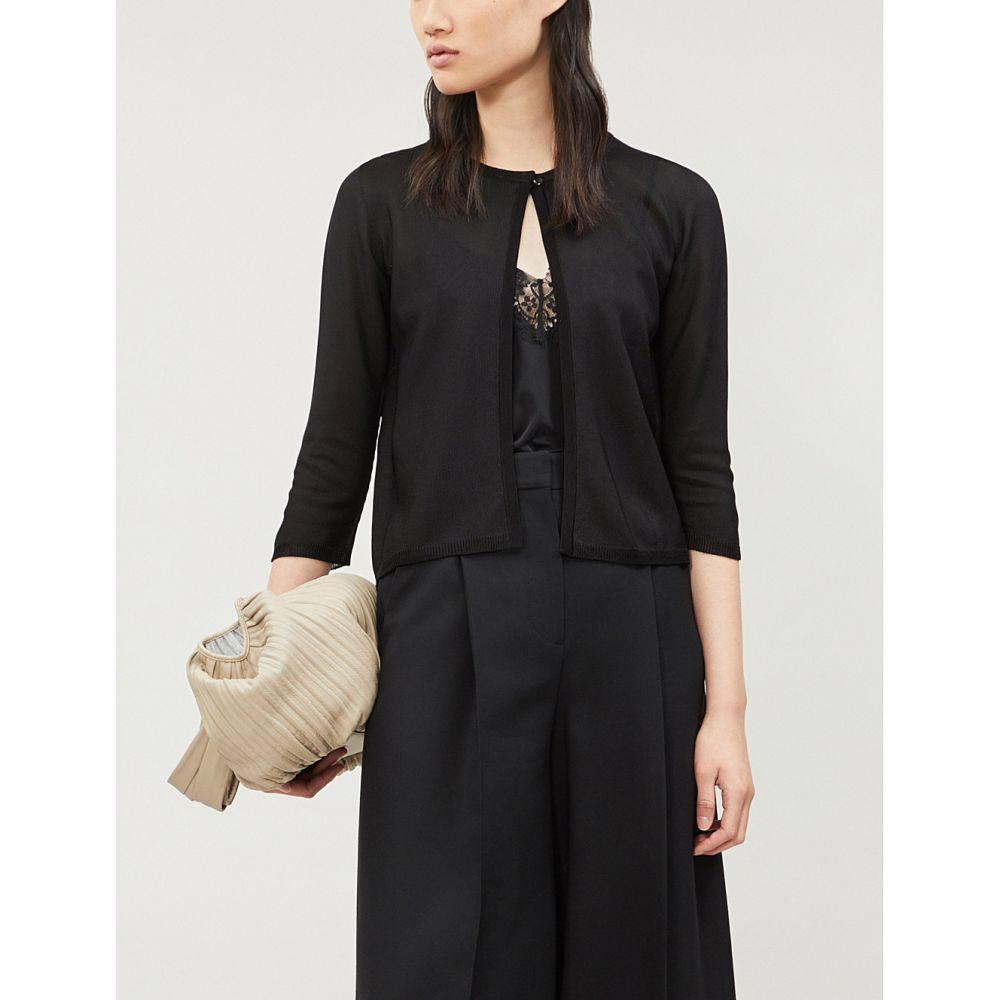 マックスマーラ max mara レディース トップス カーディガン【elodia cropped fine-knit cardigan】Black