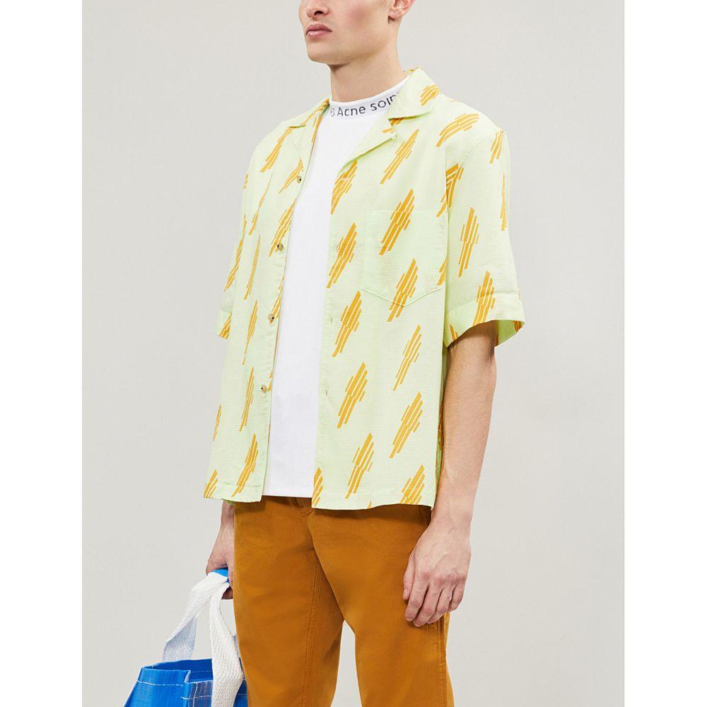 アクネ ストゥディオズ acne studios メンズ トップス 半袖シャツ【simon cotton shirt】Green yellow
