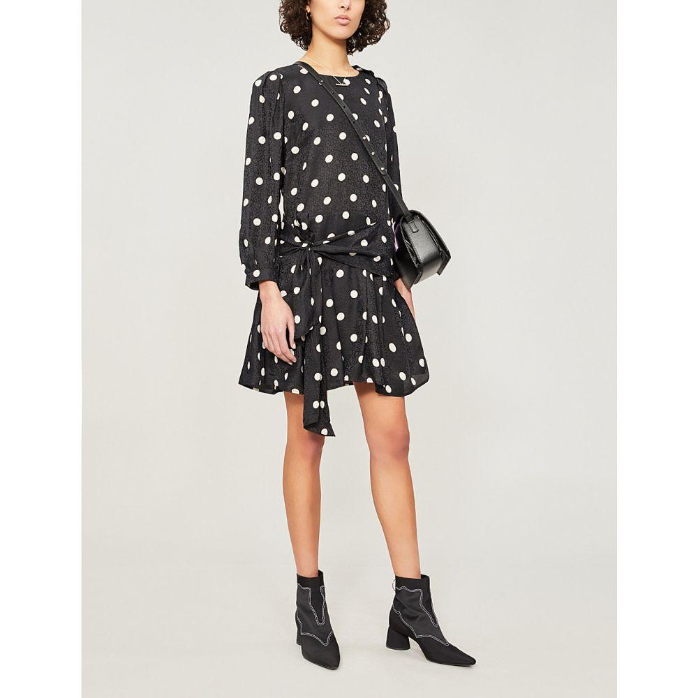 クローディ ピエルロ claudie pierlot レディース ワンピース・ドレス ワンピース【ramia polka-dot woven dress】Black