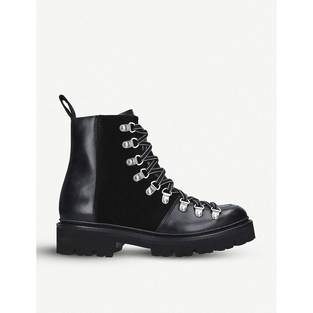 グレンソン grenson レディース ハイキング・登山 シューズ・靴【nanette leather hiking boots】Black