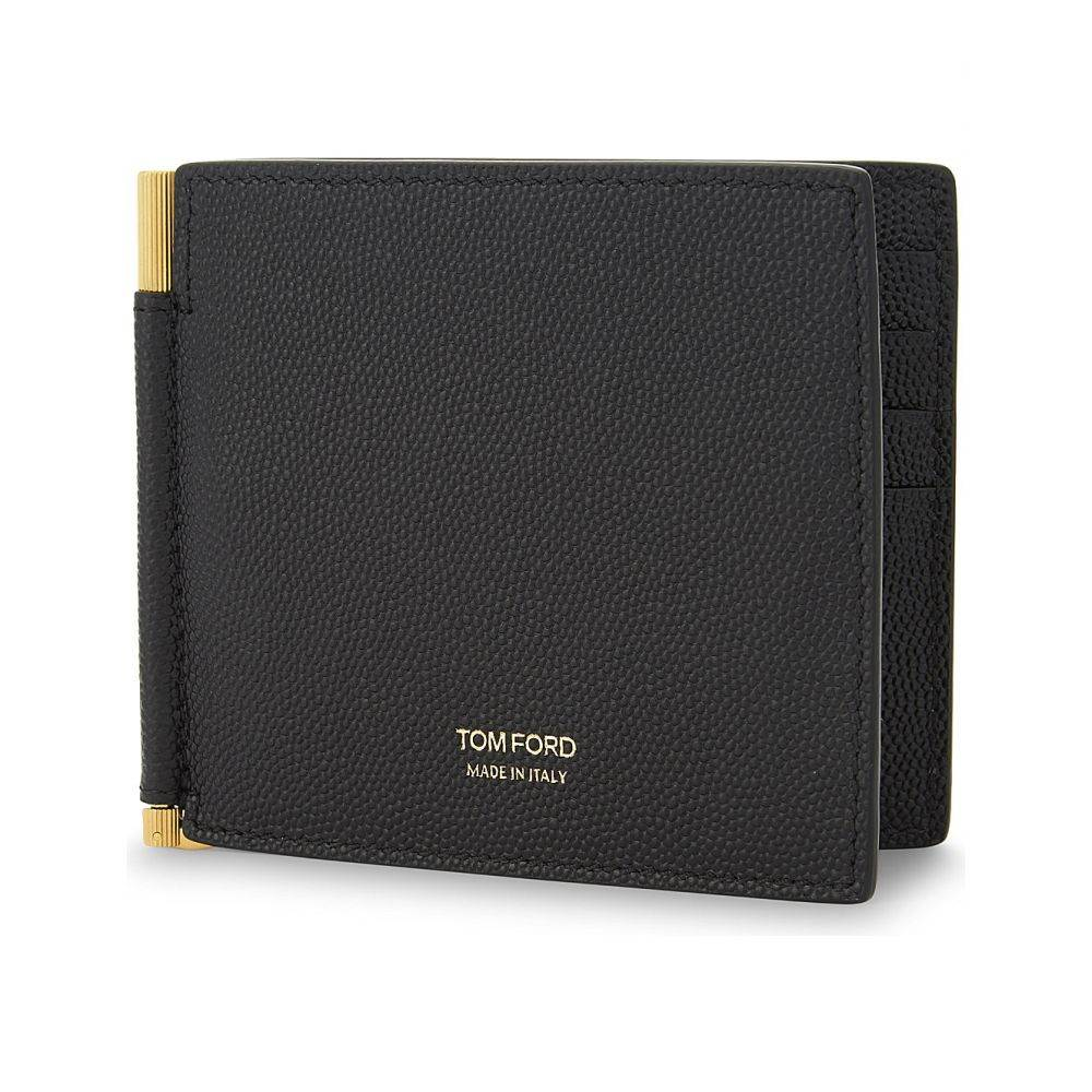 トム フォード tom ford メンズ 財布【textured leather money clip wallet】Black