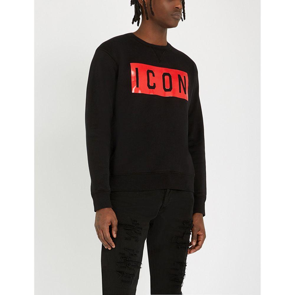 ディースクエアード dsquared2 メンズ トップス スウェット・トレーナー【icon cotton-jersey sweatshirt】Black