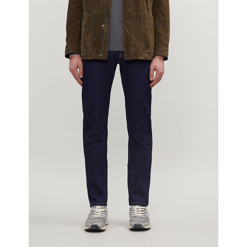 コルネリアーニ corneliani メンズ ボトムス・パンツ ジーンズ・デニム【logo-embroidered regular-fit straight jeans】Navy