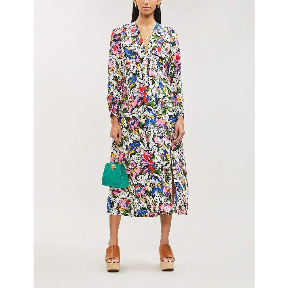 リキソ rixo レディース ワンピース・ドレス ワンピース【camellia abstract-print flared silk dress】Drop daisy