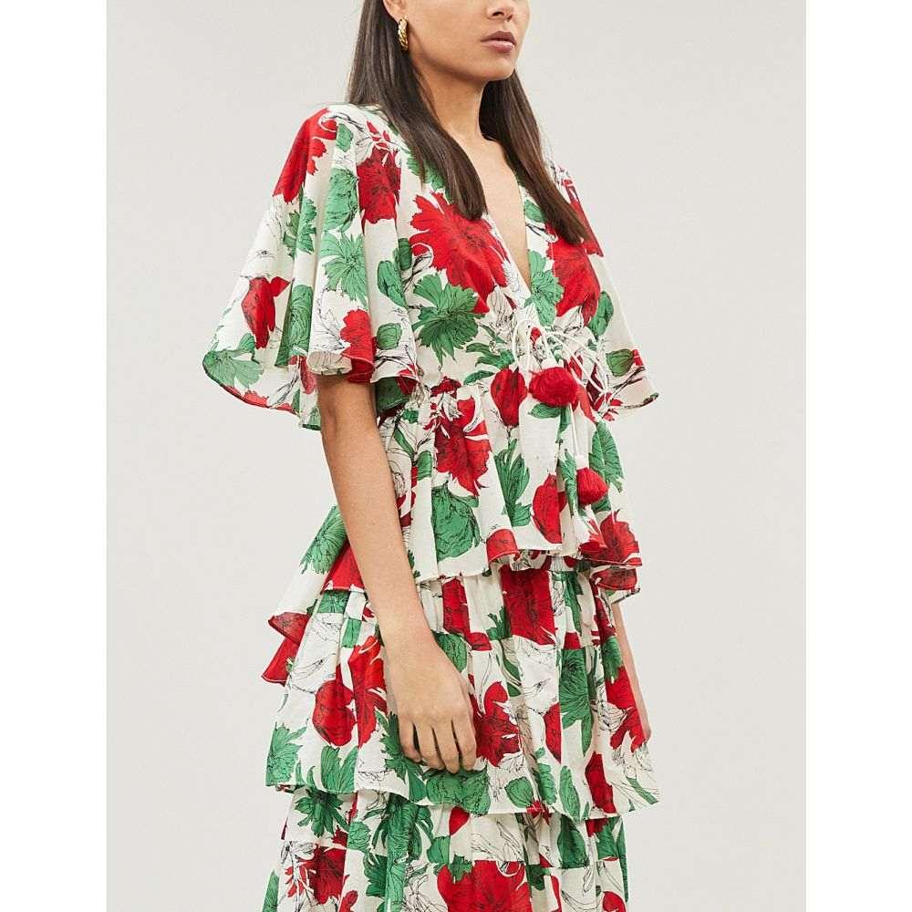アレクシス alexis レディース トップス【dayal fluted floral-print cotton-voile top】Garden ivory