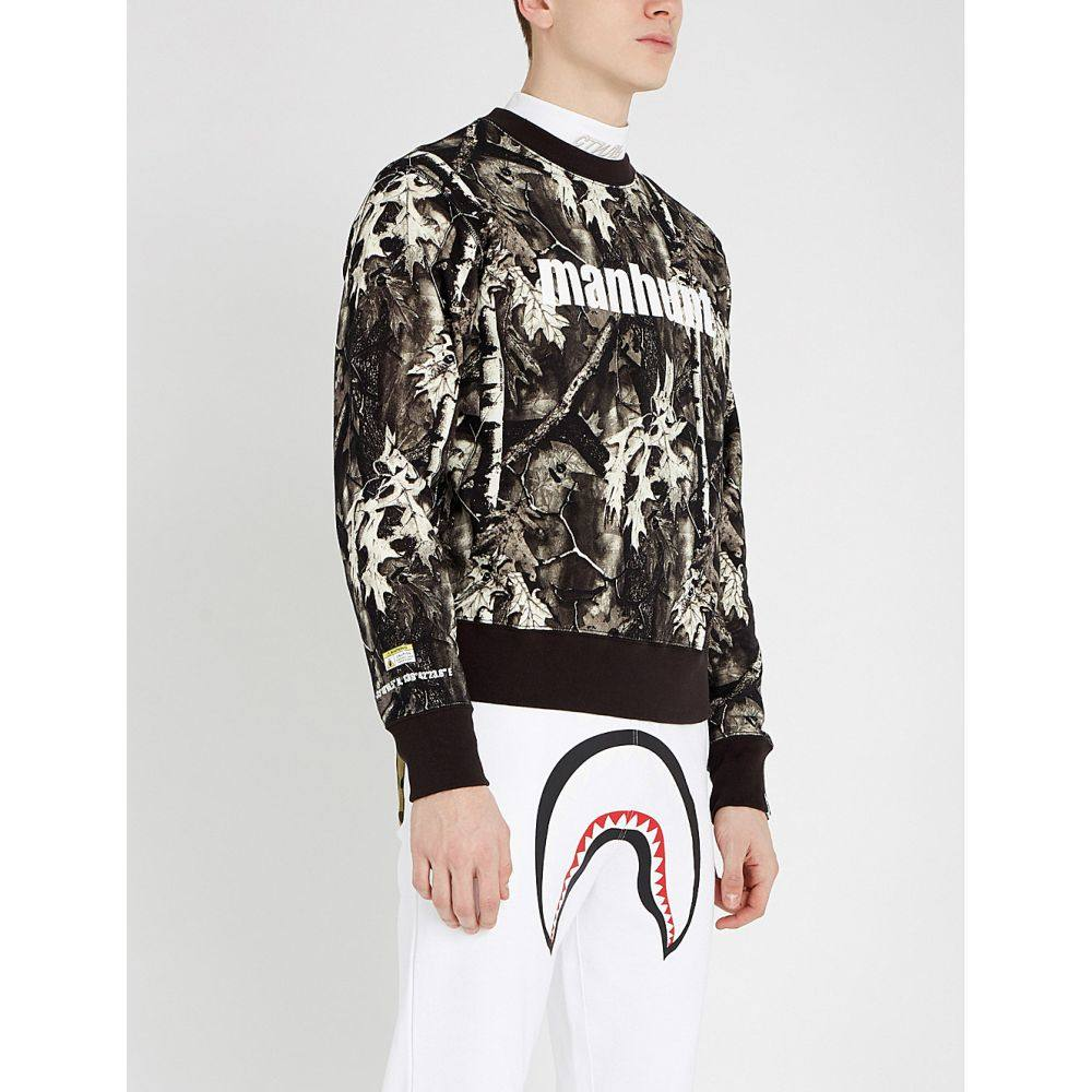 ア ベイシング エイプ a bathing ape メンズ トップス スウェット・トレーナー【forest camouflage cotton-jersey sweatshirt】Black