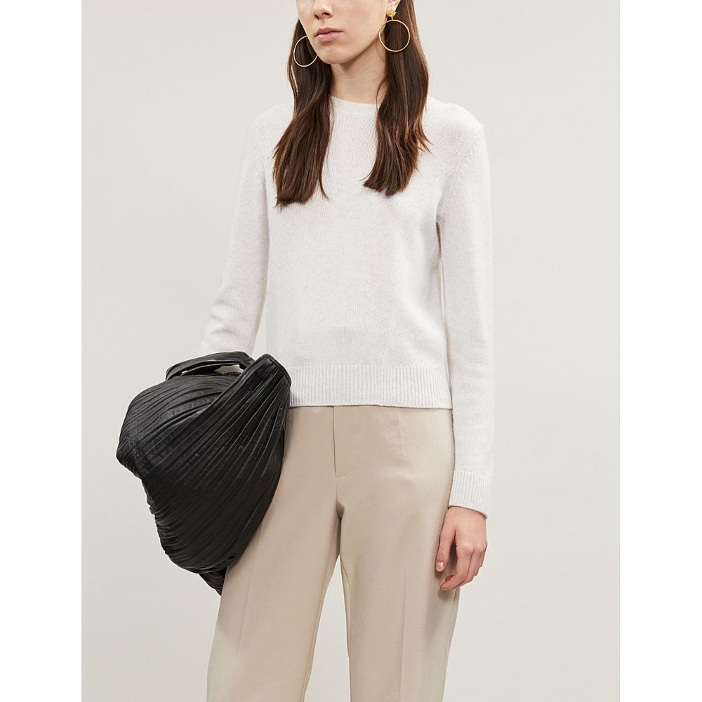 ヴィンス vince レディース トップス ニット・セーター【round-neck cashmere-knit jumper】H white